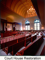 Main Court Room, Court House Restoration